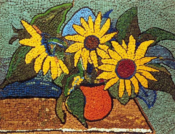 Mozaika vyrobená z hmoty FIMOIK